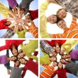 Group of smiling happy teenagers — Stock Photo #63987377