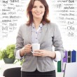 Businesswoman  in office — Stock Photo #64397137