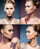Young women in jewelry — Stock Photo
