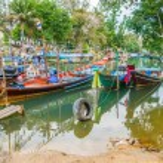 Tai fishing boats — Stock Photo #72011953