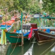 Traditional tai fishing boats — Stock Photo #73899749