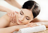 Woman in spa massage procedure — Stock Photo
