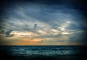 Storm on  sea during sunrise — Stock Photo