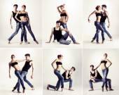Couple of modern ballet dancers — Stock Photo