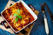 Italian Food. Lasagna plate. — Foto Stock