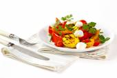 Grilled vegetables with mozzarella cheese — Stock Photo
