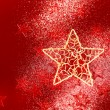 Christmas background with red little stars — Stock Photo #55655321