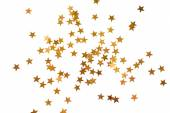 Holiday background with little golden stars — Stock Photo