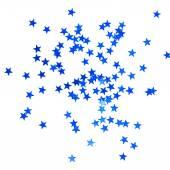 Fondo de navidad con estrellas azules — Foto de Stock