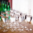 High glasses with water or wine — Stock Photo #61905717
