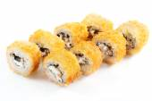 Tempura roll with salmon and cream cheese — Stock Photo