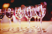 High glasses with water or wine — Stock Photo