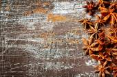 Food background with star anise  — Stock Photo