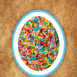 Colorful easter background with different sweets  — Stock Photo #65528351