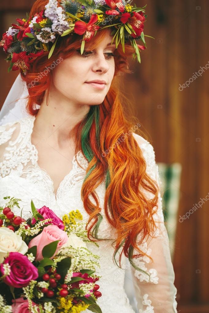 С невестой рыжая 18 фотография