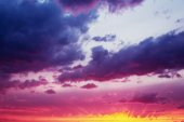 Fantastic Dramatic Sunset Sky — Stock Photo