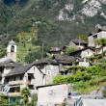 ������, ������: The rural village of San Bartolomeo on Verzasca valley