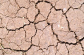 Agrietado suelo de arcilla — Foto de Stock