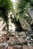 Waterfall on canyon — Stock Photo