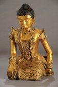 Birmano estatua de la reina — Foto de Stock