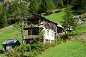 Old chalet on Maggia valley — Stock Photo