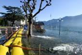 The inundation of lake Lugano — Stock Photo