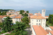 Aerial view over the roofs of Porec — Stock Photo