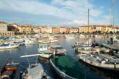 The picturesque port of Rovinj on Croatia — Stockfoto