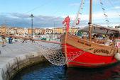 The picturesque port of Rovinj on Croatia — Stock Photo