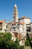 Diocletian palace UNESCO world heritage site in Split, Dalmatia — Stock Photo