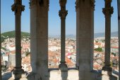 View from the Clock Tower of San Doimo cathedral at Split — Stock Photo