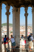 People admiring the view of Split — Stock Photo