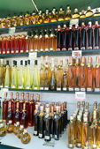 Bottles of liquor — Stock Photo