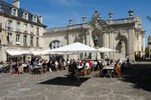 People eating and drinking in a restaurant of Nancy — Stock Photo