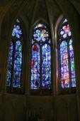Stained glass window of the Cathedral of Reims  — Stock Photo