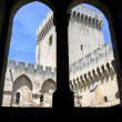Palace of Pope at Avignon on France — Stock Photo #60037141