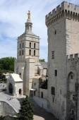 Place du Palais at Avignon on France — Stock Photo