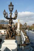 Posągi most Aleksandra Iii — Zdjęcie stockowe