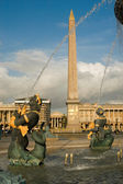 Concorde Square with the obelisk at Paris — Stock Photo