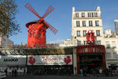 Moulin Rouge is the most famous Parisian cabaret  — Stock Photo