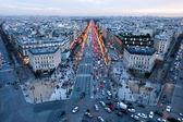 Sunset at Champ Elysee on Paris — Stock Photo