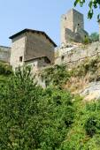 Ruins of castle Carpineti on Emilia Romagna — Stock Photo