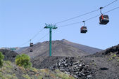 The cableway of mount Etna on Sicily — Stock Photo