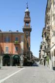 Civica tower at Casale Monferrato on Piedmont — Stock Photo
