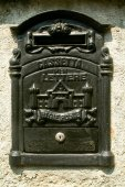 Antique metal mail box — Stock Photo