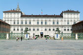 People walking in front of the Royal palace in Turin — Stock Photo
