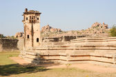 Watch tower of royal fort Zenana Enclosure at Hampi — Stock Photo