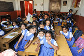 Pupils in classroom at them school of Fort Cochin — Stockfoto