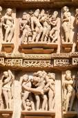Detail of artwork at the Khajuraho temples — Stock fotografie