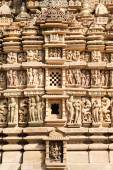 Detail of artwork at the Khajuraho temple — Stock Photo